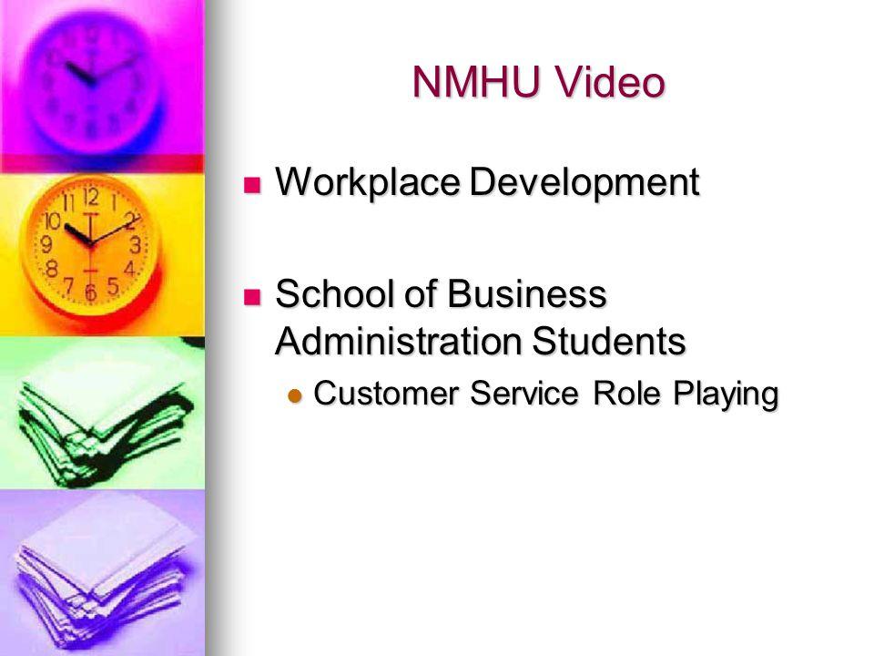 NMHU Video Workplace Development