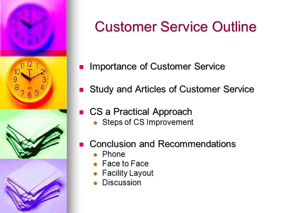 Customer Service Outline