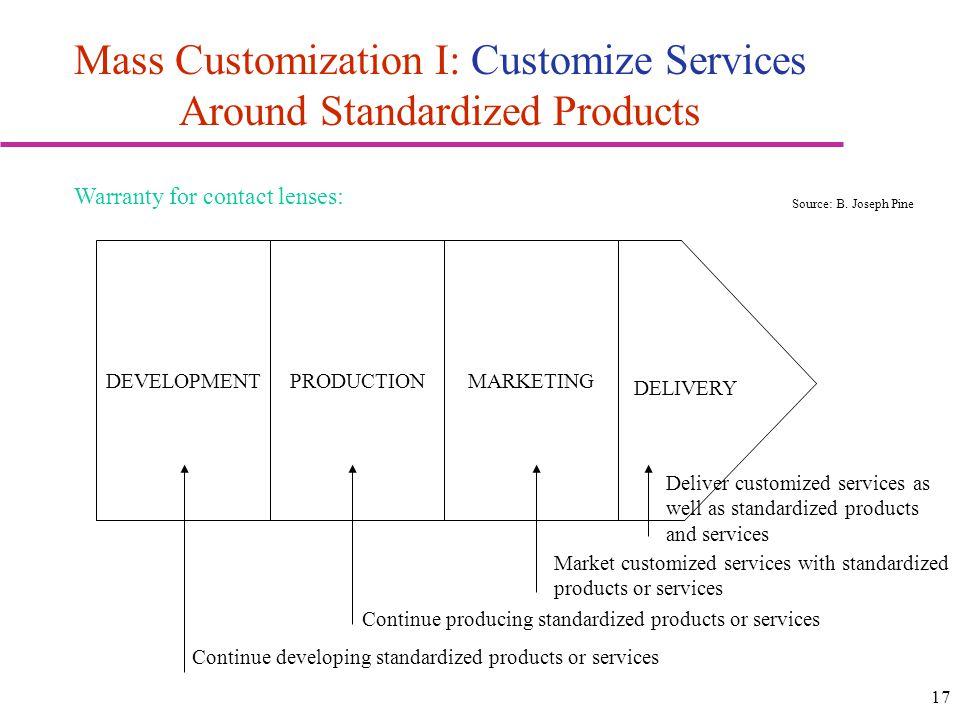 Mass Customization I: Customize Services Around Standardized Products