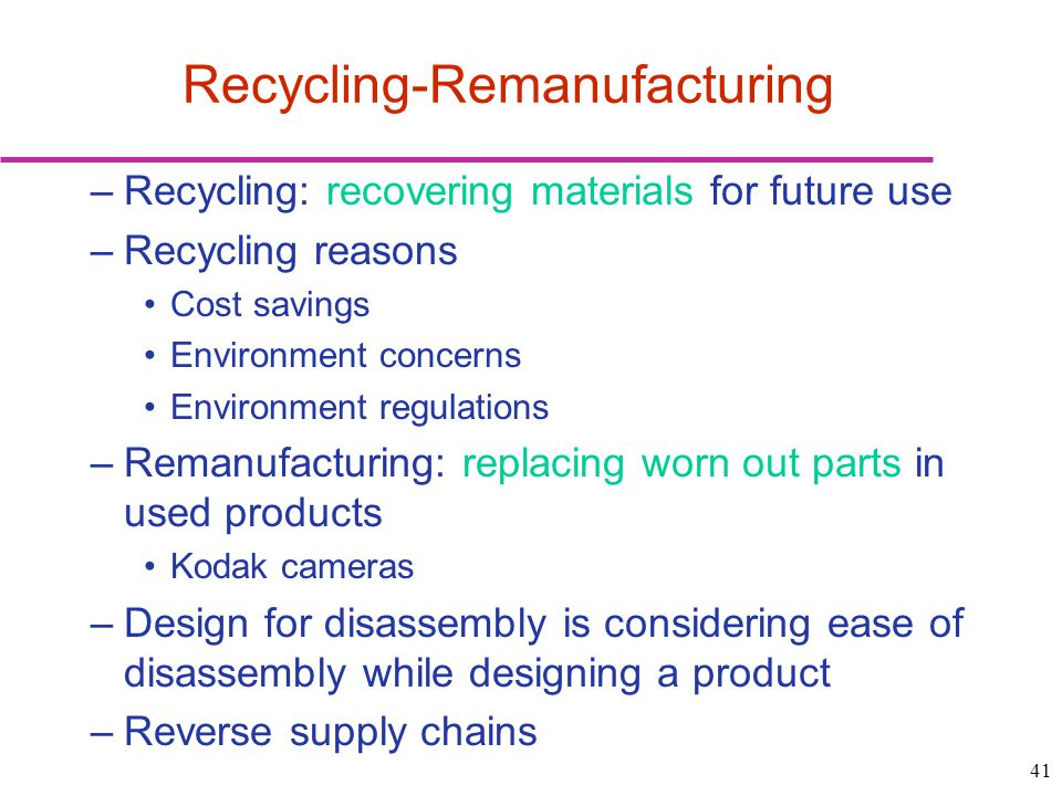 Recycling-Remanufacturing