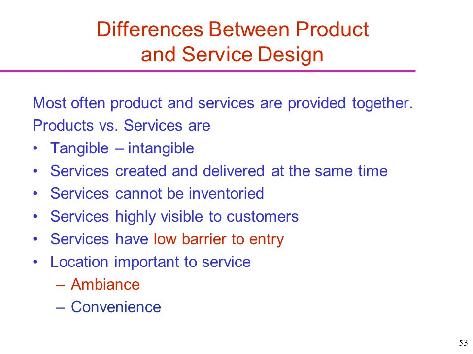 Differences Between Product and Service Design