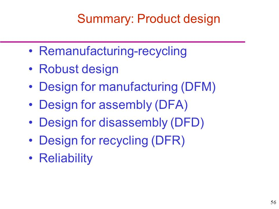 Summary: Product design