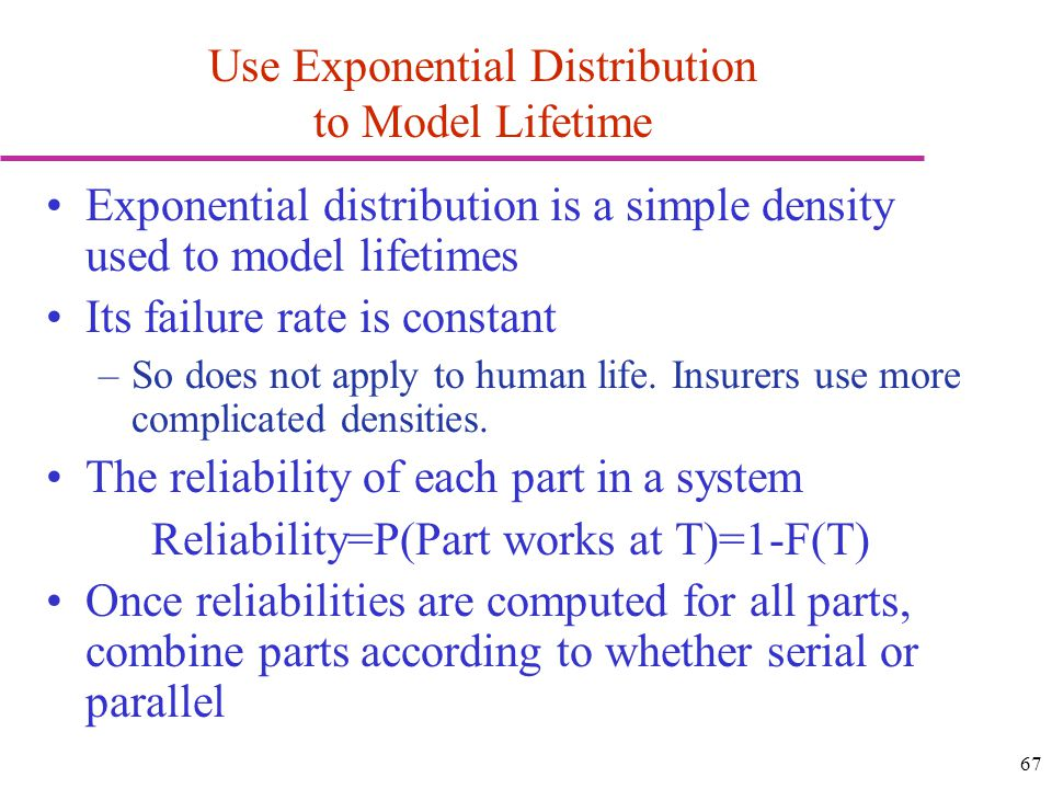 Use Exponential Distribution to Model Lifetime