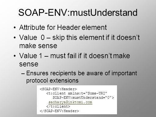 SOAP-ENV:mustUnderstand