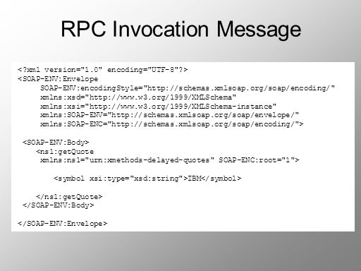 RPC Invocation Message