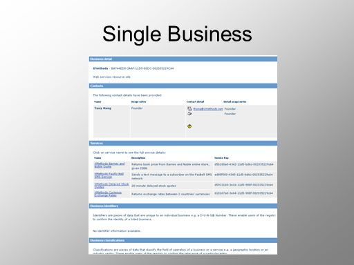 Single Business