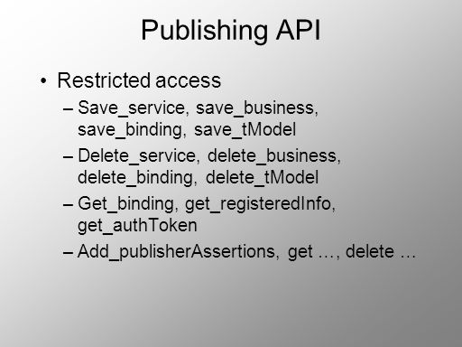 Publishing API Restricted access