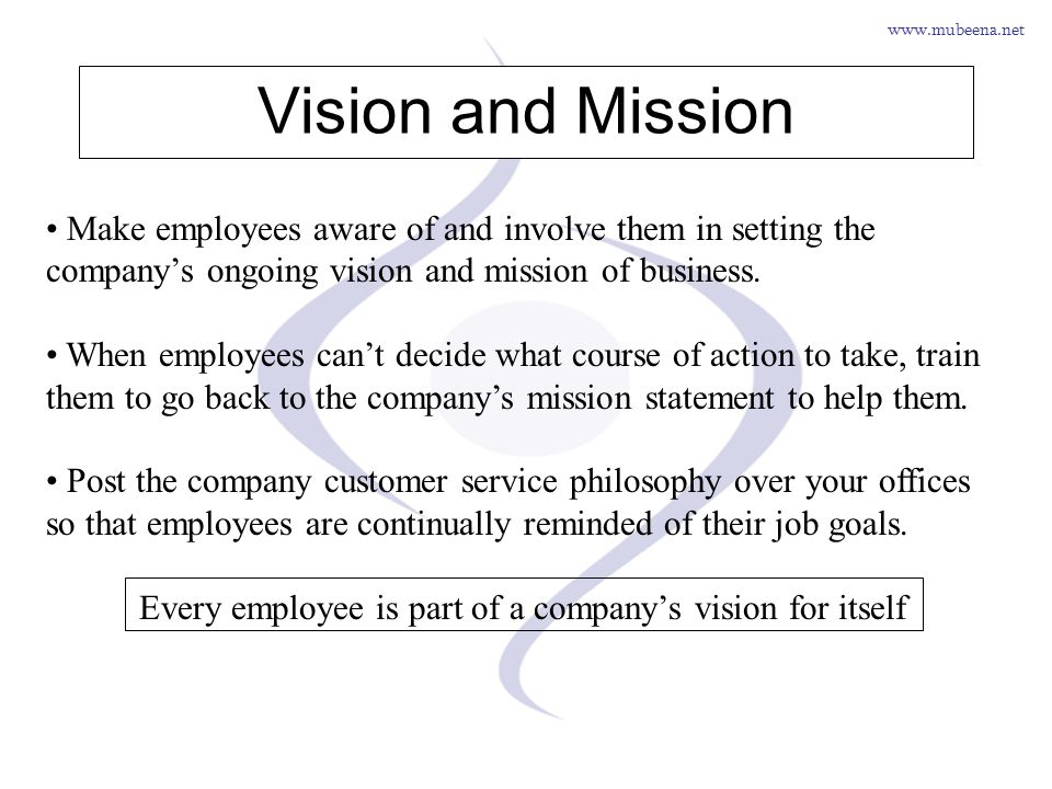 Every employee is part of a company's vision for itself