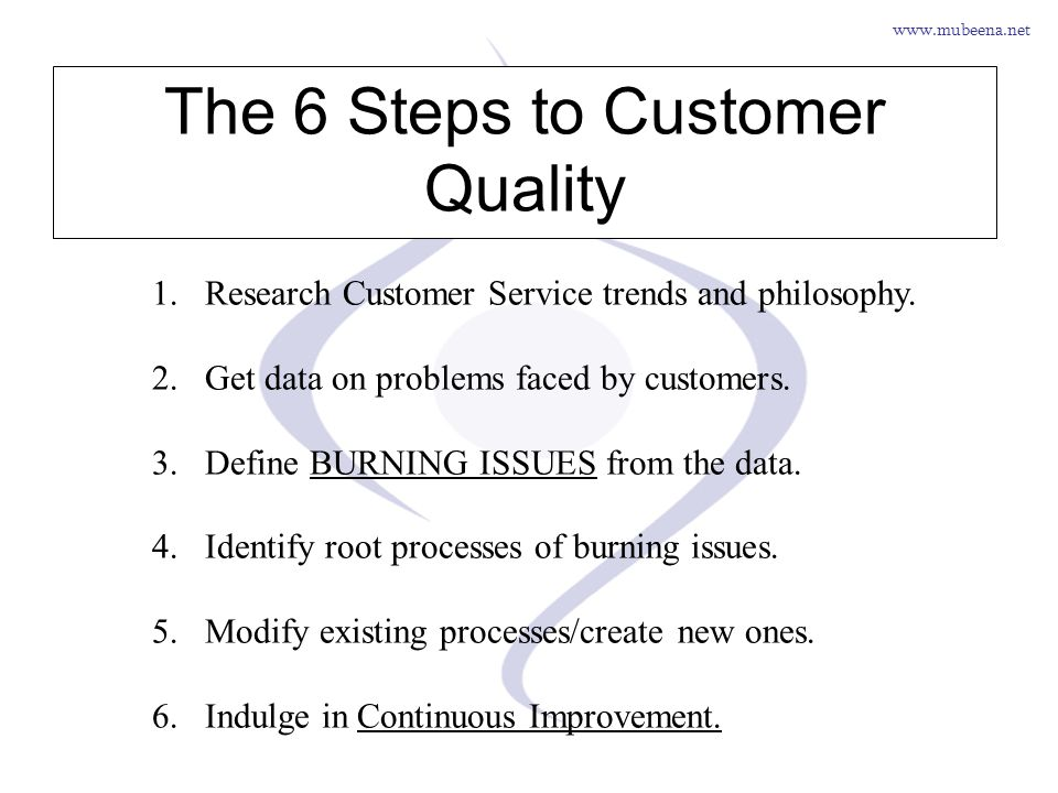 The 6 Steps to Customer Quality