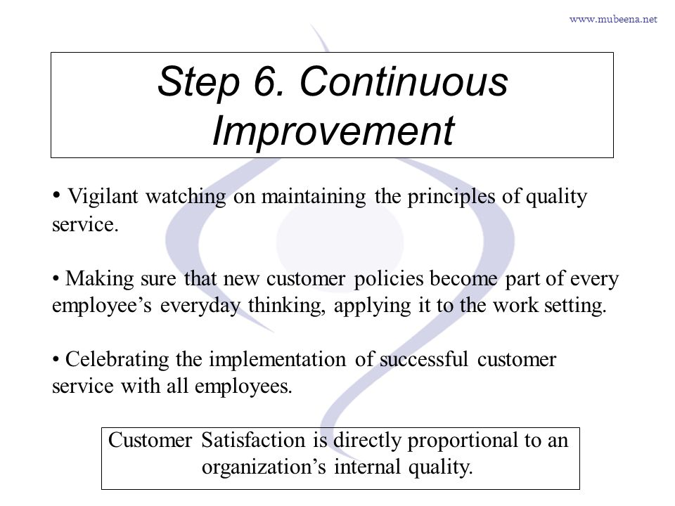 Step 6. Continuous Improvement