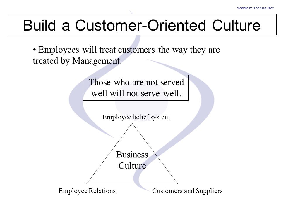 Build a Customer-Oriented Culture