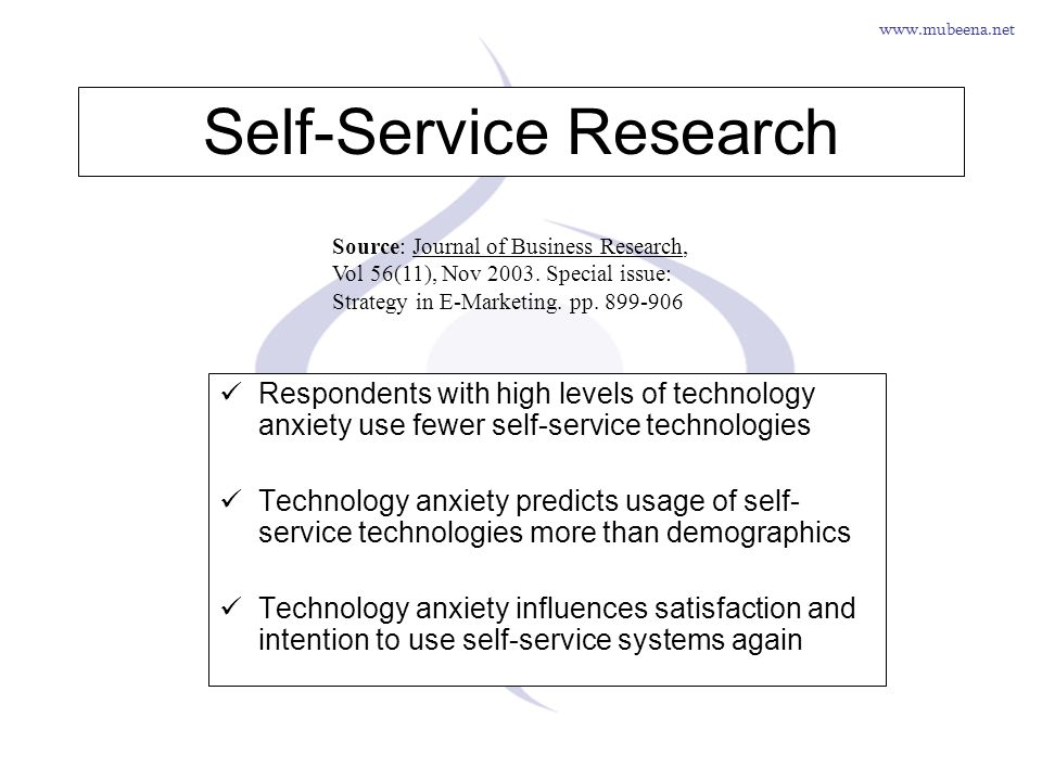 Self-Service Research