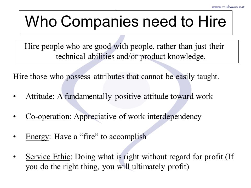 Who Companies need to Hire