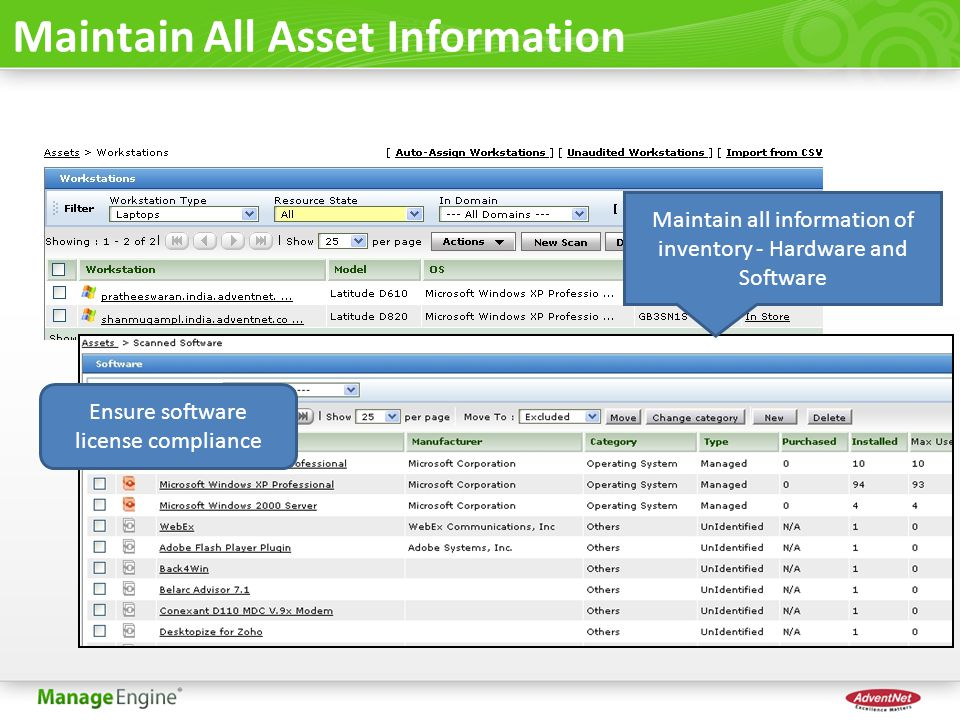 Maintain All Asset Information