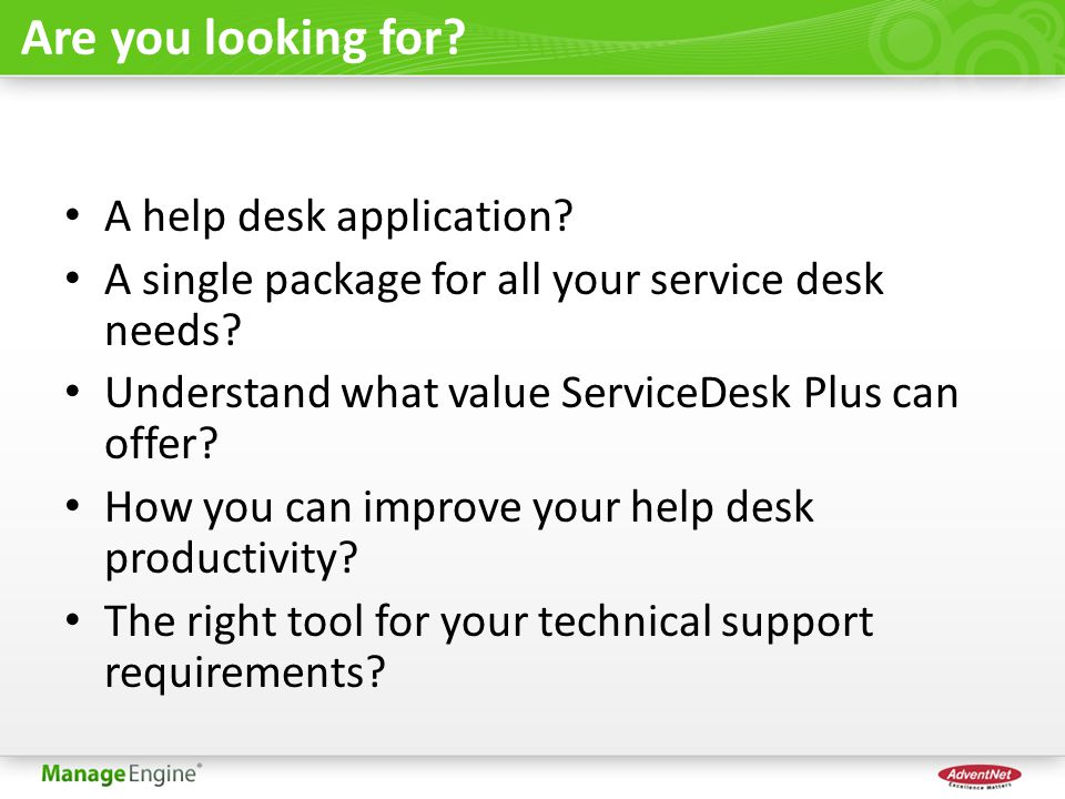 Are you looking for A help desk application