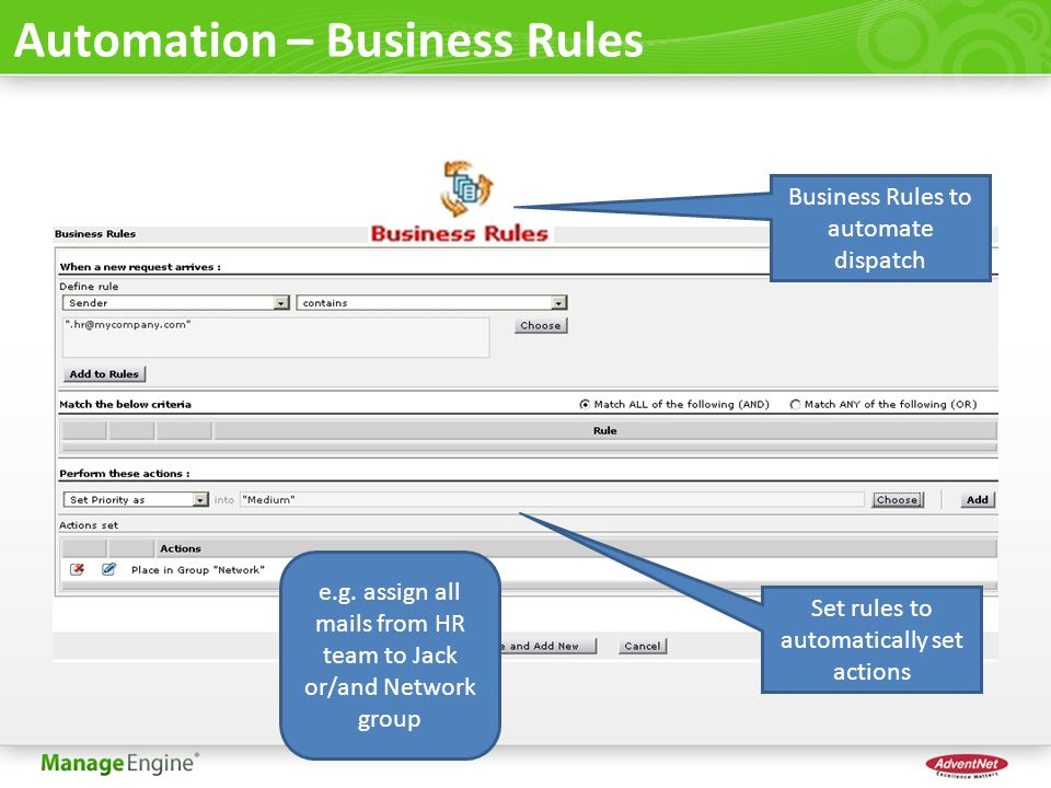 Automation – Business Rules