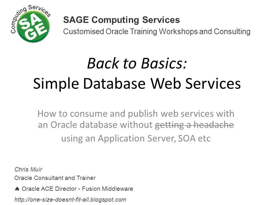 Back to Basics: Simple Database Web Services
