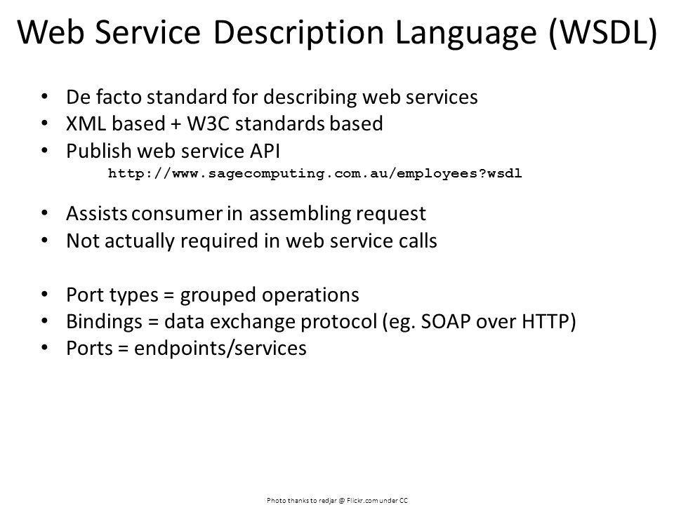 Web Service Description Language (WSDL)