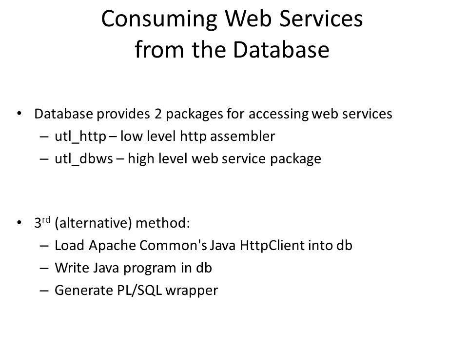Consuming Web Services from the Database