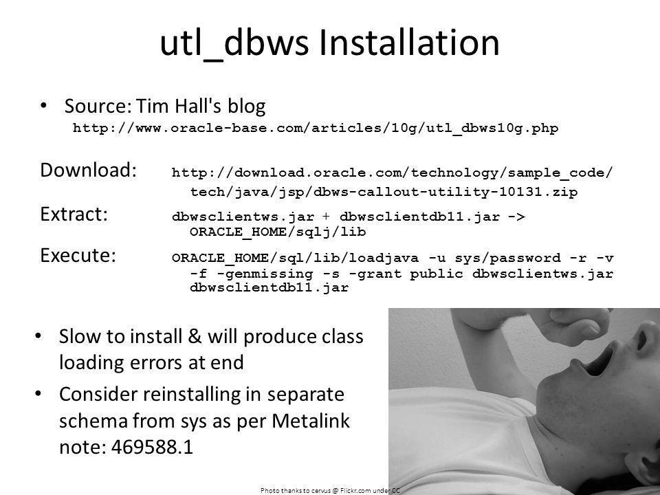 utl_dbws Installation