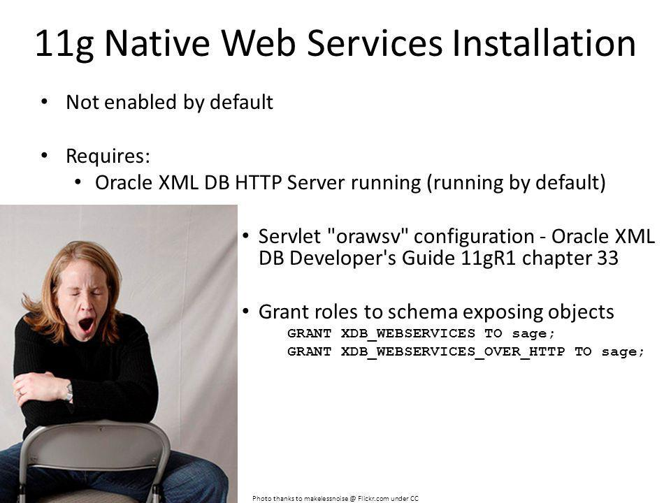 11g Native Web Services Installation