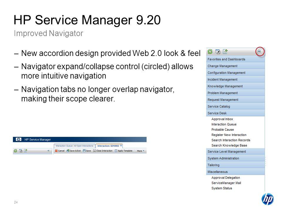 HP Service Manager 9.20 Improved Navigator