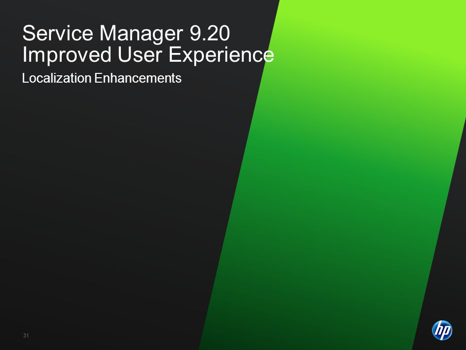 Service Manager 9.20 Improved User Experience Localization Enhancements