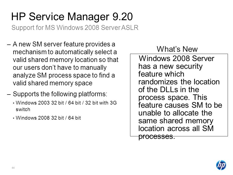 HP Service Manager 9.20 What's New