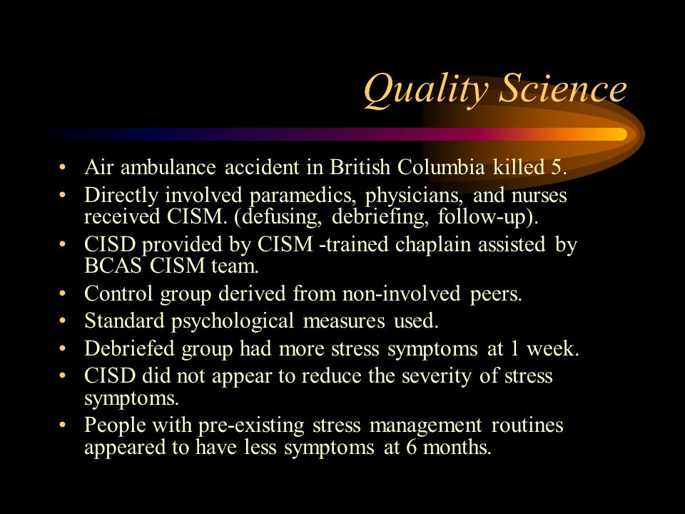 Quality Science Air ambulance accident in British Columbia killed 5.