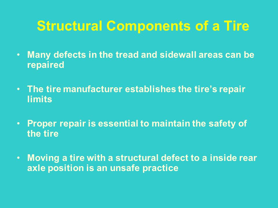Structural Components of a Tire