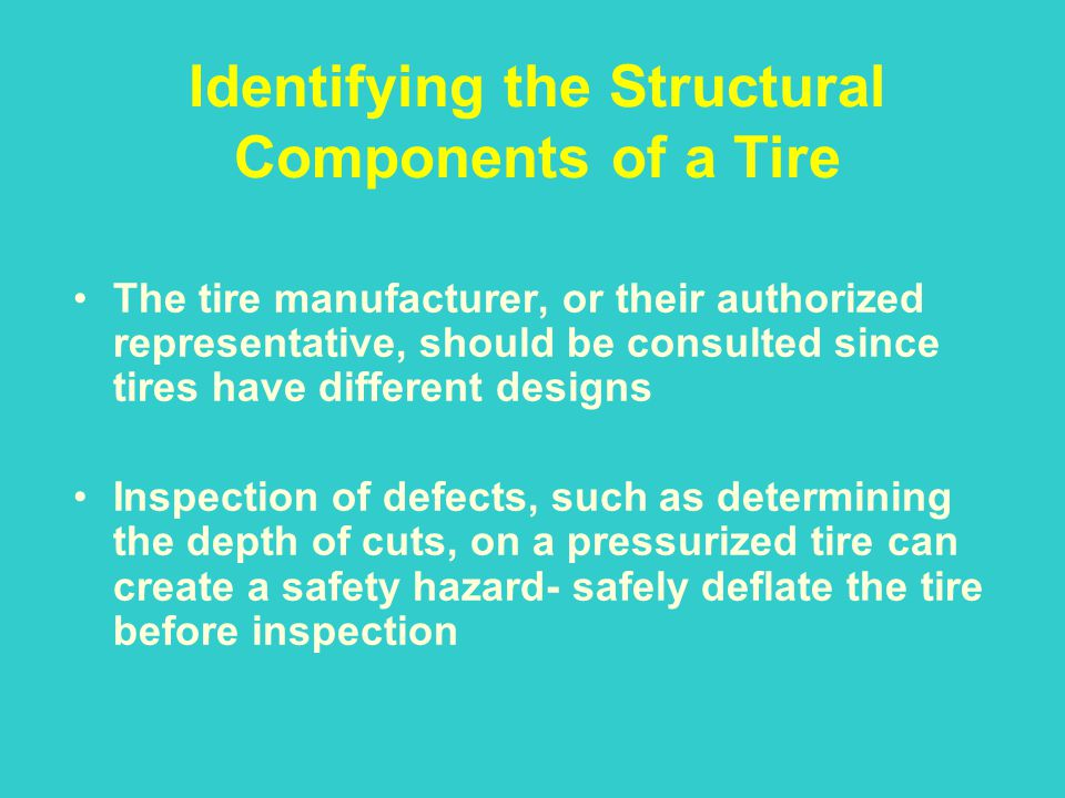 Identifying the Structural Components of a Tire