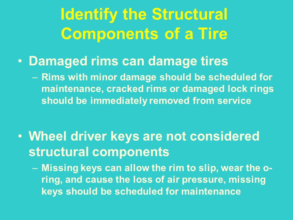 Identify the Structural Components of a Tire