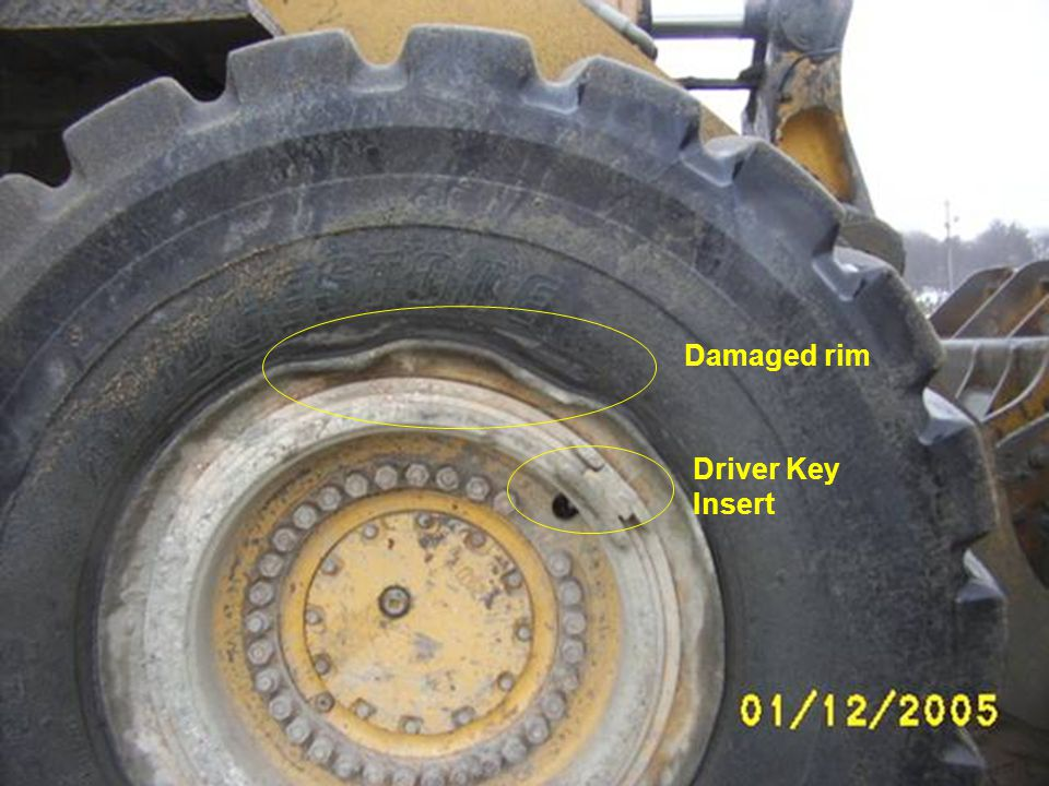 Damaged rim Driver Key Insert