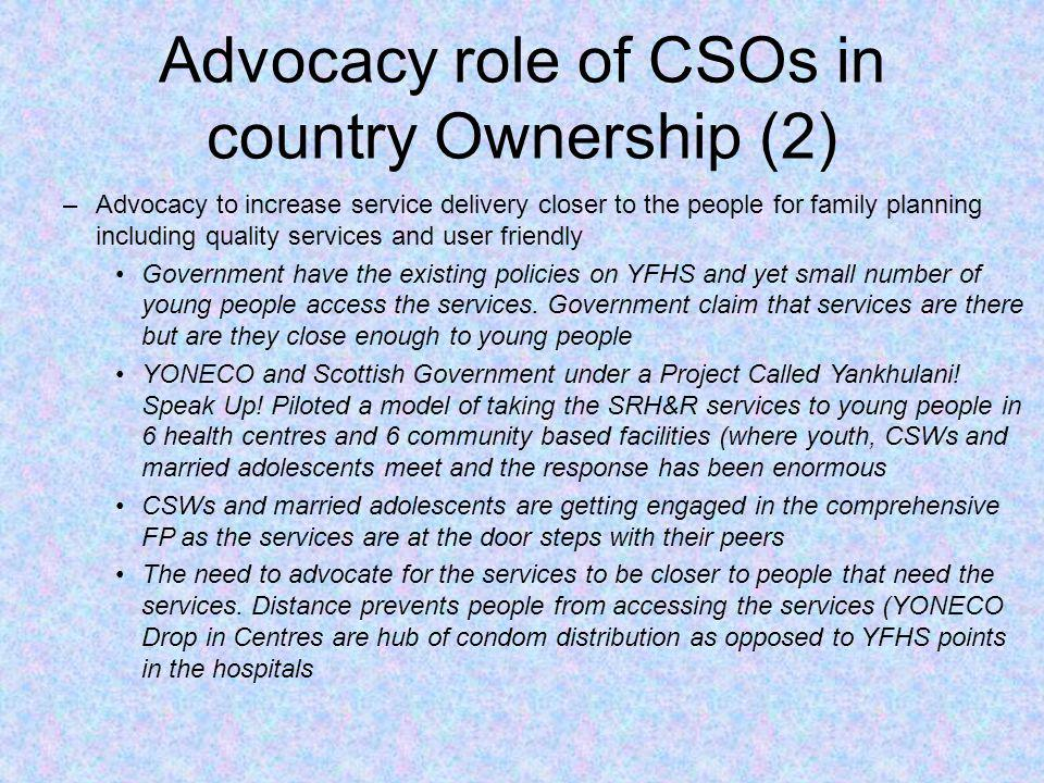 Advocacy role of CSOs in country Ownership (2)
