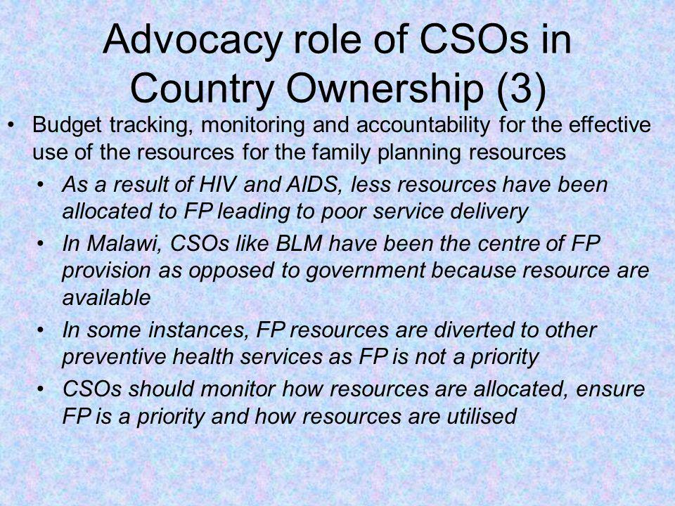 Advocacy role of CSOs in Country Ownership (3)