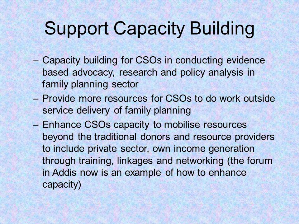 Support Capacity Building