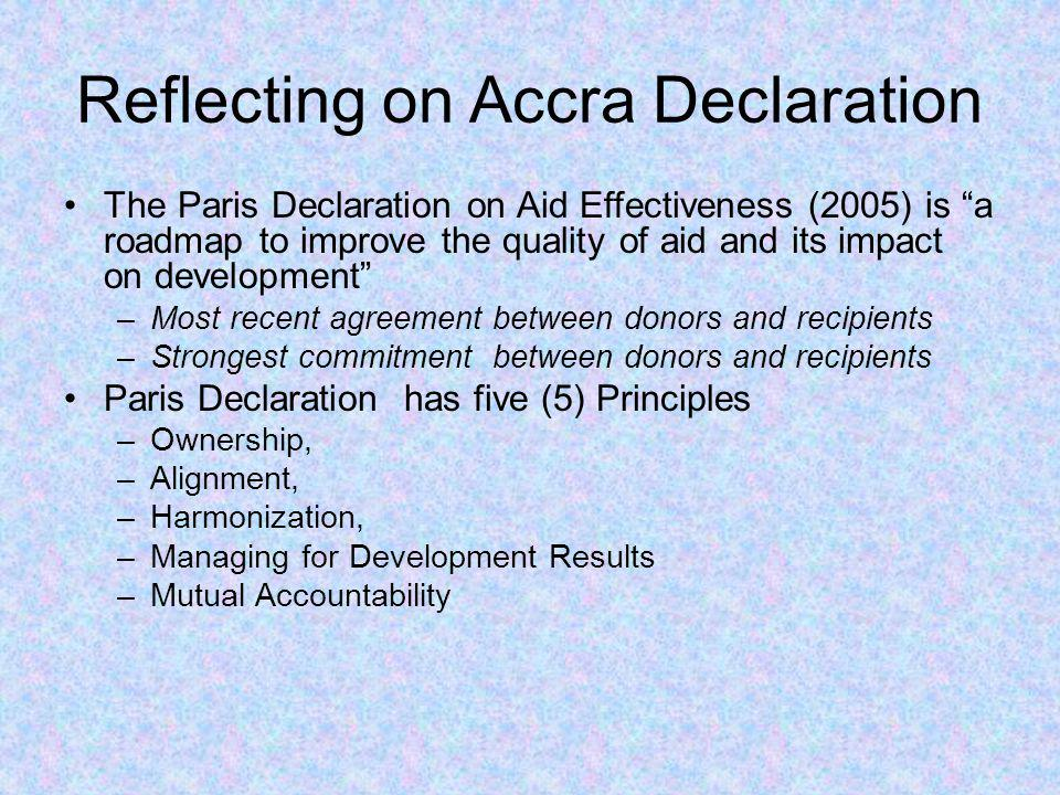 Reflecting on Accra Declaration