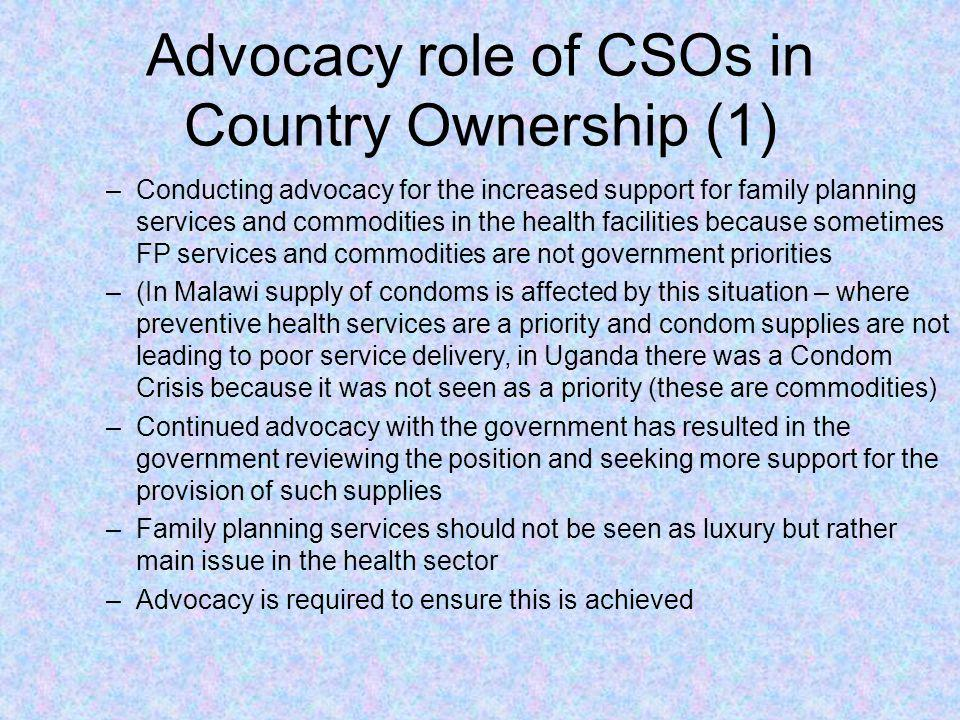 Advocacy role of CSOs in Country Ownership (1)