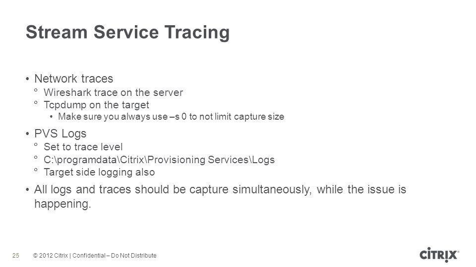 Stream Service Tracing