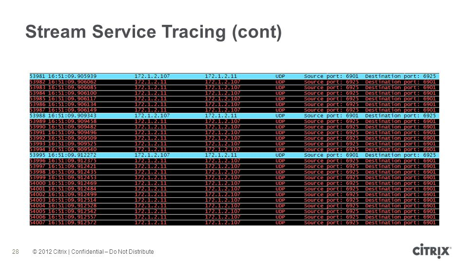 Stream Service Tracing (cont)