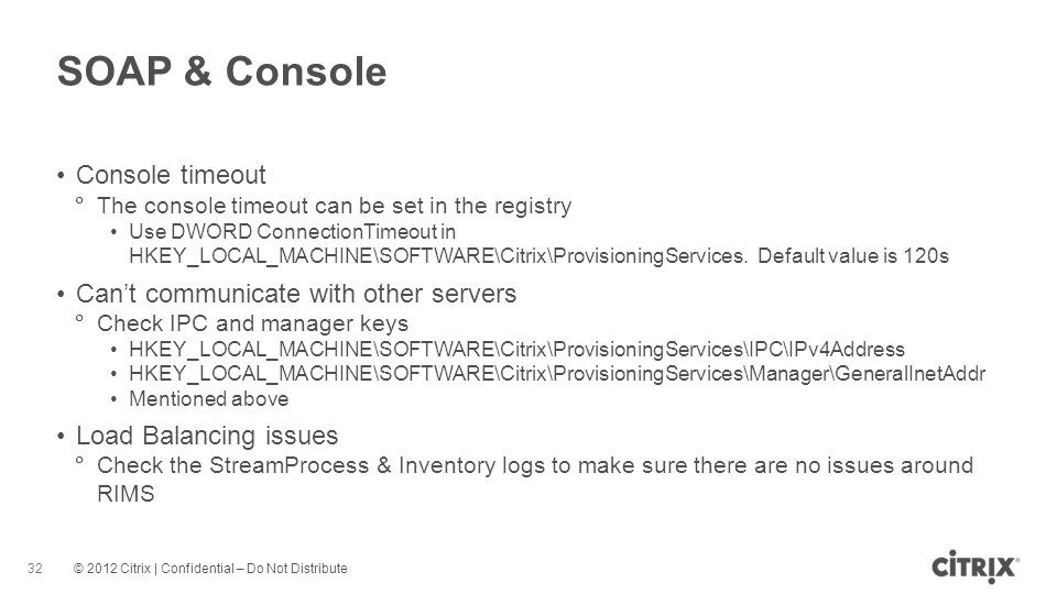 SOAP & Console Console timeout Can't communicate with other servers