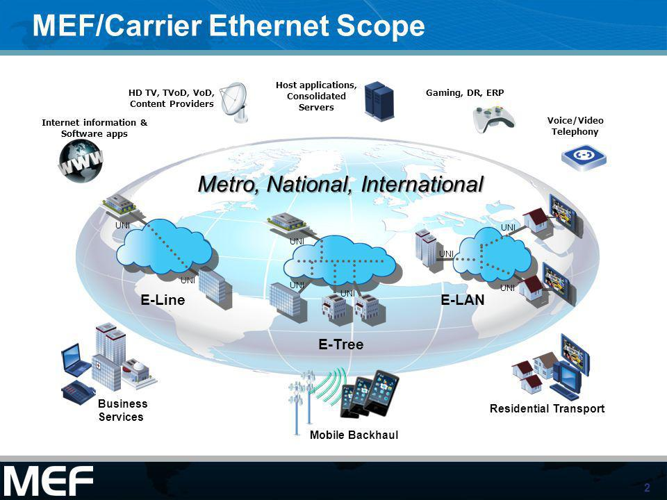 MEF/Carrier Ethernet Scope