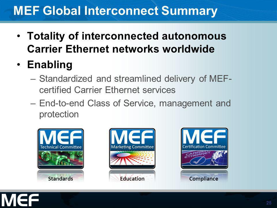 MEF Global Interconnect Summary