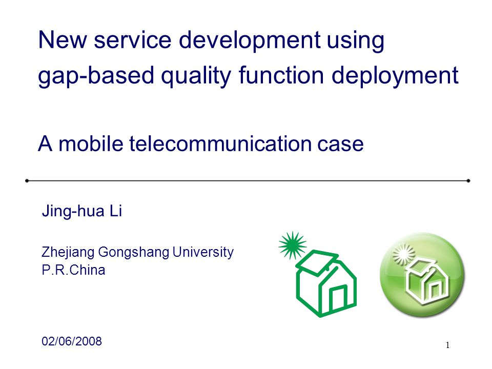 New service development using gap-based quality function deployment A mobile telecommunication case