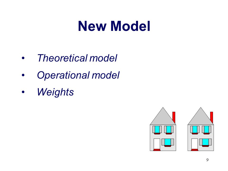 New Model Theoretical model Operational model Weights