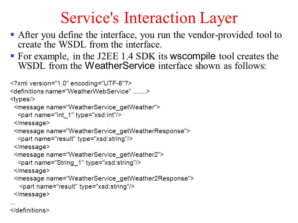 Service s Interaction Layer