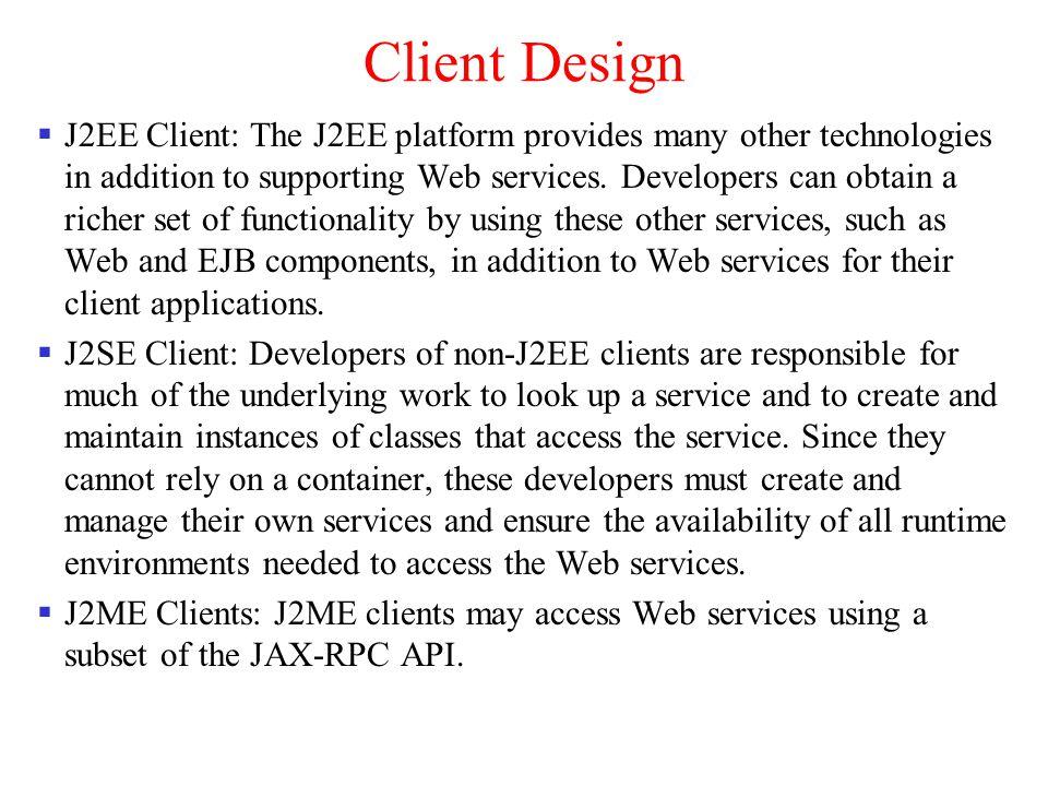 Client Design