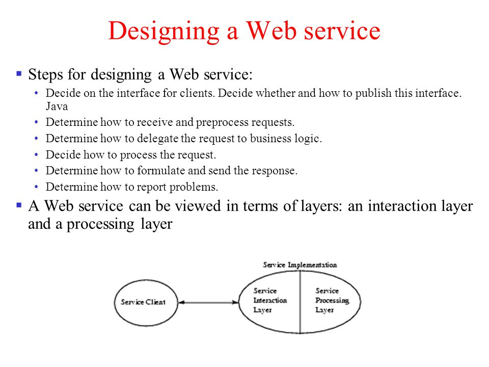 Designing a Web service