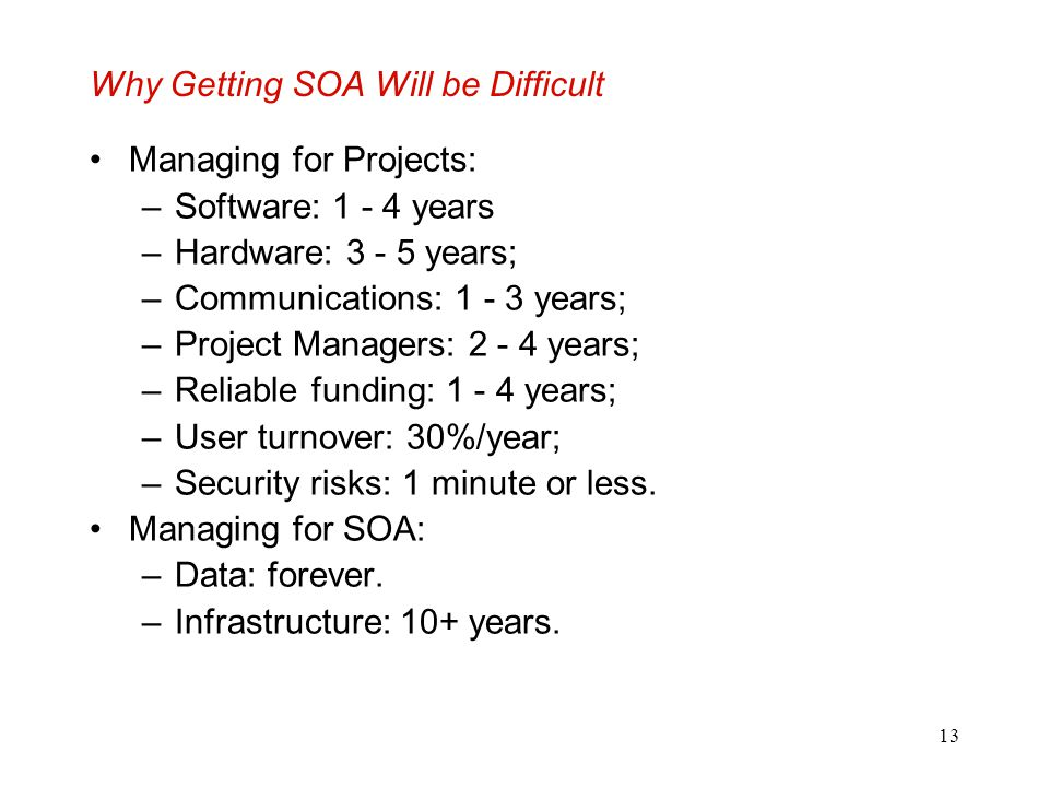 Why Getting SOA Will be Difficult