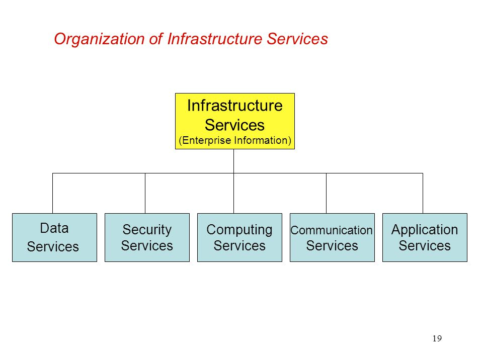 Organization of Infrastructure Services